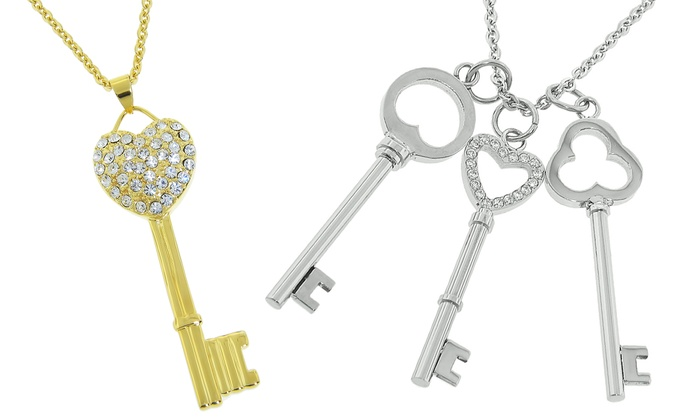 Stainless Steel Key Pendant Necklaces: Stainless Steel Key Pendant Necklaces. Multiple Options Available. Free Returns.