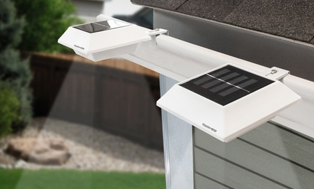 Solar Gutter And Fence White or Black HALOLITE's (2-Pack)