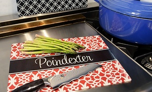 Paper Concierge: $19.99 for One Small Personalized Glass Cutting Board from Paper Concierge ($49.95 Value)