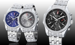 SO & CO New York Men's Chronograph Dress Watch at SO & CO New York Men's Chronograph Dress Watch, plus 6.0% Cash Back from Ebates.