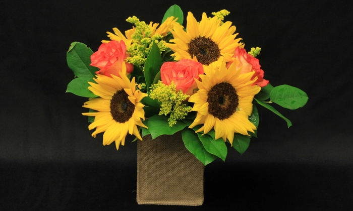The Flower Mill - Sioux Falls: $39 for Sunny Surprise Flower Set at The Flower Mill ($60 Value)
