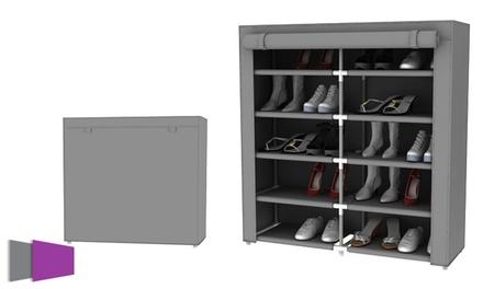 ארגונית נעליים כפולה בעלת 10 קומות לאחסון של עד 30 זוגות נעליים, רק ב-119 ₪