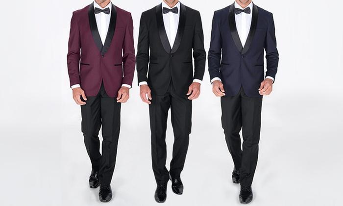 6a7a5b4fdfa Braveman Slim-Fit Tuxedo (2pc.)   Groupon Goods