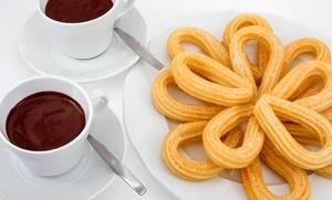 Merienda para dos con 2 chocolates o 2 cafés y todos los churros que queráis por 4,90 € en pleno centro