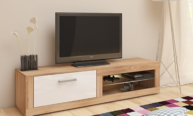 meuble tv borneo ou remo groupon shopping. Black Bedroom Furniture Sets. Home Design Ideas