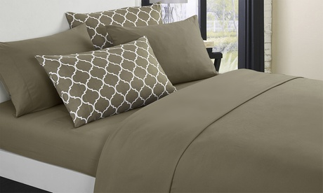 Chic Home Opticia Brushed Microfiber Solid Sheet Set (4- or 6-Piece)