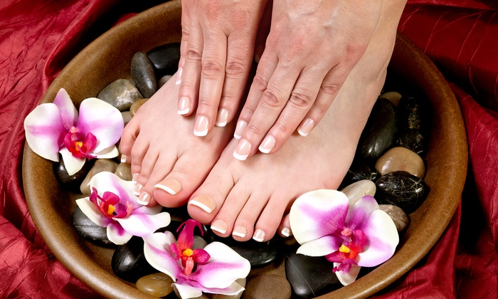 Taylor's Simply Natural Nail Spa - C/O Sola Salon Studios: One Express Pedicure or Basic Manicure at Taylor's Simply Natural Nail Spa (Up to $25 Off)