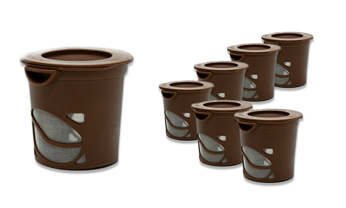 6-Pack of Reusable Coffee Pods: 6-Pack of Reusable Coffee Pods. Free Returns.
