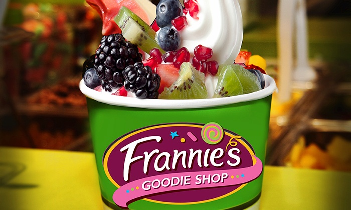Frannie's Goodie Shop - Multiple Locations: Three Groupons Each Good for $10 Worth of Fro-Yo or Fro-Yo Party for Up to 10 at Frannie's Goodie Shop (50% Off)