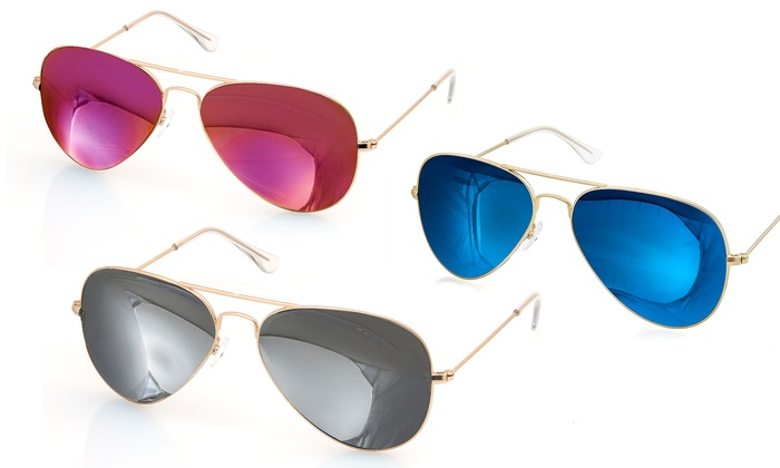 Aqs Mirrored Sunglasses  aqs james aviator sunglasses groupon goods
