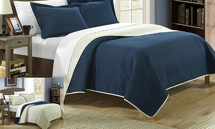 Leona 2- or 3-Piece Reversible Color-Block Quilt Set from $29.99–$36.99