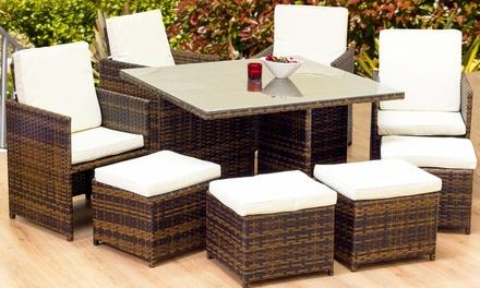 Patio furniture set groupon goods for Outdoor furniture groupon