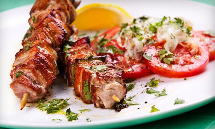 Aegean Turkish Restaurant - New York City: Turkish Meal for Two or Four with Appetizers and Wine at Aegean Turkish Restaurant (Up to 65% Off)
