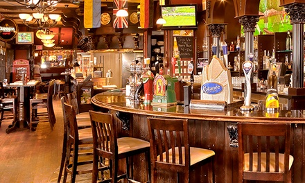 Pub Food, Local and Import Beer, Spirits, and Wine at The Rose & Crown Pub (Up to 43% Off)
