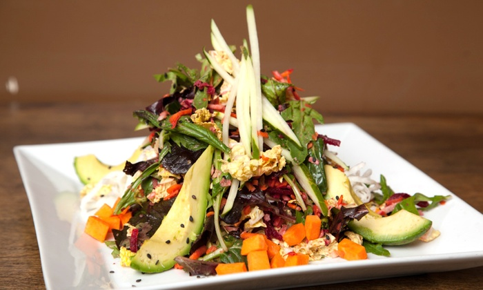 Organic food and drinks 118 degrees groupon for 118 degrees raw food cuisine