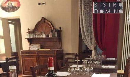 Menu di pesce con vino al Bistrò Domino