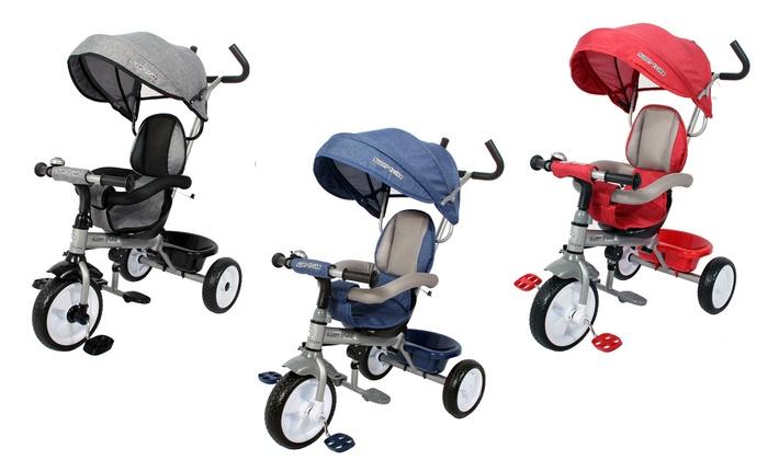TitoloTriciclo progressivo 2 in 1 a 3 ruote disponibile in 5 colori