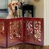 Adjustable Scrolled-Wood Pet Gate