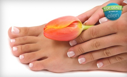 $33.99 for Shellac Manicure and Basic Pedicure with Nail Art at Deluxe Nail Spa ($60 Value)