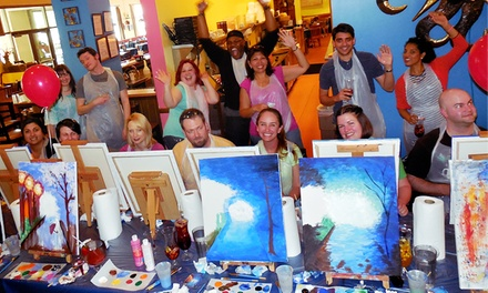 Two or Three-Hour Painting Session for One or Two or Private Painting Event Art By The Glazz (Up to 55% Off)