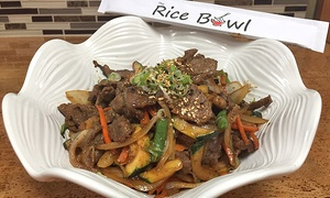 The Rice Bowl: $12 for $20 Toward The Rice Bowl Sushi and Korean Food