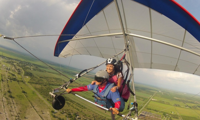 Miami Hang Gliding - The Florida Ridge Air Sports Park: $73 for a Tandem Hang-Gliding Flight Package from Miami Hang Gliding at The Florida Ridge Air Sports Park ($184 Value)
