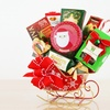 Holiday Sleighs Filled with Chocolate and Sweets