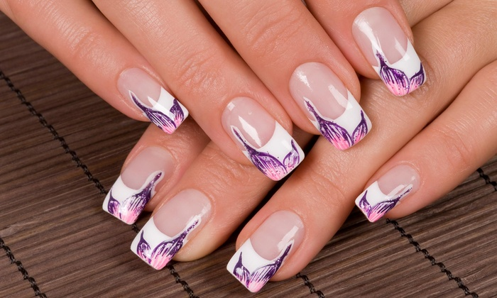 Manicure With Nail Design Teenys Nails The Looking Glass Groupon