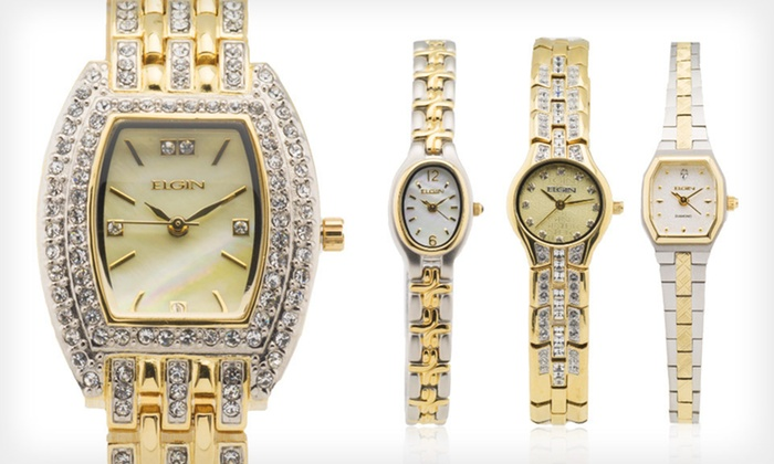 Elgin Ladies' Watches: Elgin Ladies' Watches (Up to 84% Off). Multiple Styles Available. Free Shipping.