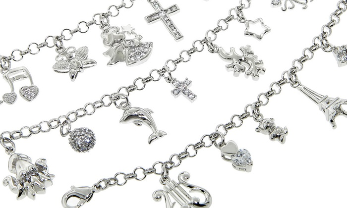 Sterling Silver Charm Bracelets: Sterling Silver Charm Bracelets. Multiple Designs Available. Free Returns.