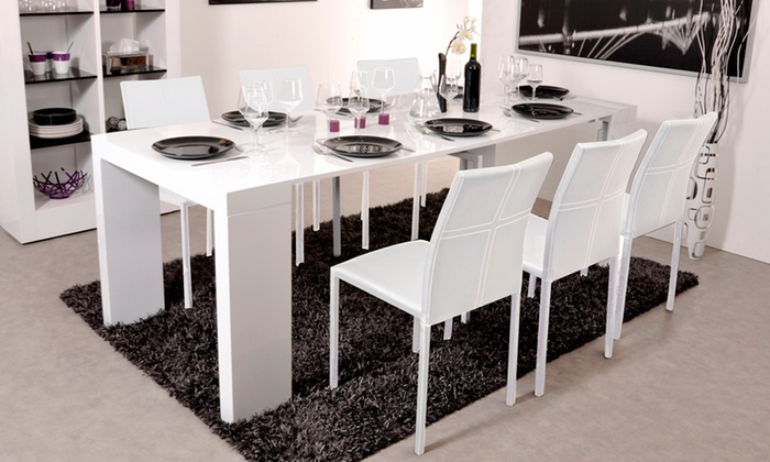table ou console extensible chaises groupon shopping