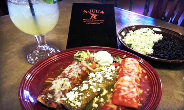 Ajuua Mexican Restaurant - Multiple Locations: $15 for $30 Worth of Mexican Food at Ajuua Mexican Restaurant