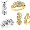 3-Piece Gold-Plated 0.10-CTTW Diamond Jewelery Set