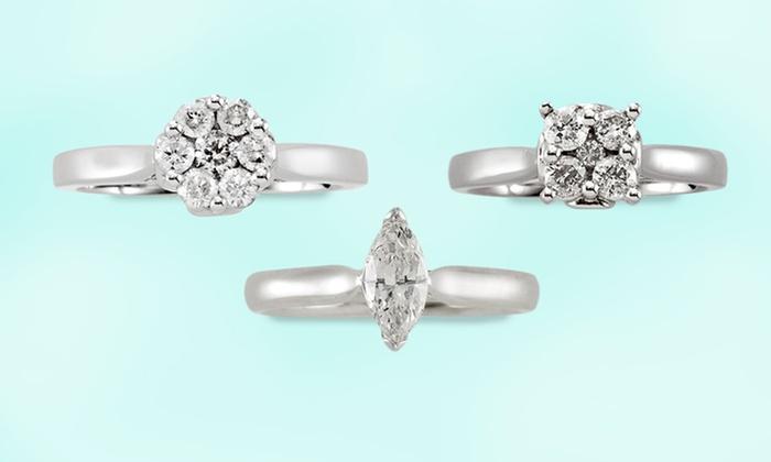 David Tutera 1/2-Carat Diamond Rings: David Tutera 1/2-Carat Diamond Rings (Up to 80% Off). Multiple Styles Available. Free Shipping and Returns.