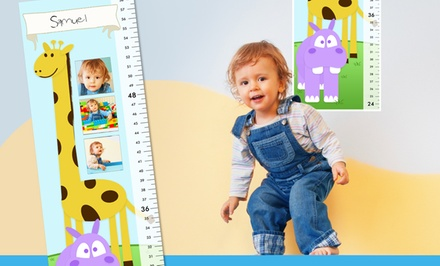 One, Two, or Four Personalized Kids' Growth Charts from MailPix (Up to 81% Off)