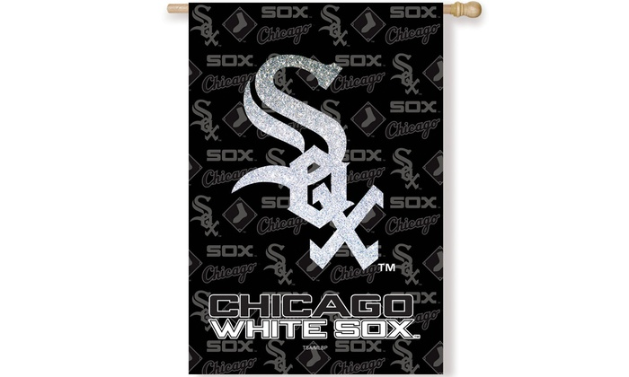 Chicago White Sox Suede Metallic House Flag: Chicago White Sox Suede Metallic House Flag