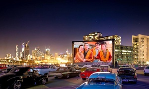 The Rooftop Drive-in Cinema: $25 for Drive-In Cinema Entry for One Car (+$2.76 Booking Fee) at The Rooftop Drive-in Cinema (Up to$44 Value)