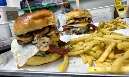 Handmade Beef Burger with Fries