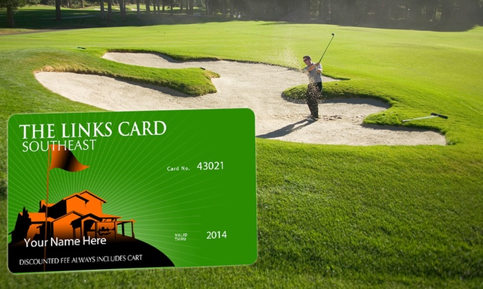 The Links Card Southeast : One or Two Golf-Membership Links Cards with a Lob Wedge or a Hybrid Golf Club (Up to 85% Off)