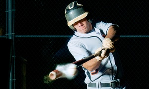 Hitting Zone In-Door Batting Cages: 30- or 60-Minute Batting Cages at Hitting Zone In-Door Batting Cages (Up to 45% Off). Four Options Available.