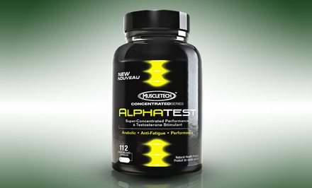 112-Capsule Bottle of Muscletech Alpha Test Performance Supplement