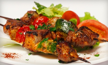 Mediterranean Cuisine at Shish Kabob Cafe (Up to 53% Off). Two Options Available.