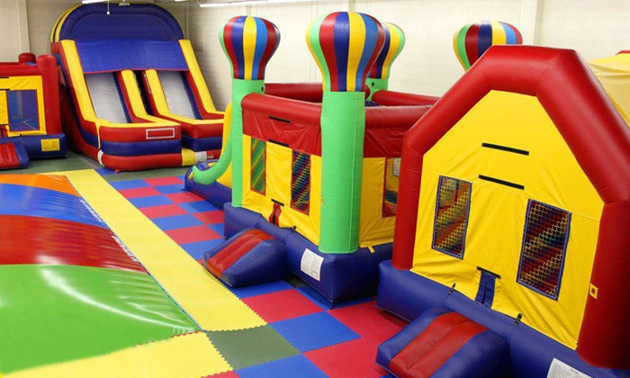 Jump Around Utah - Salt Lake City: One or Five All-Day Open-Jump Passes at Jump Around Utah Indoor Bounce House (Up to 54% Off)