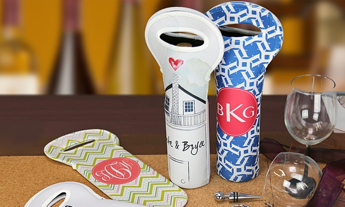 Personalized Insulated Wine Gift Bags from Monogram Online: Personalized Insulated Wine Gift Bags from Monogram Online