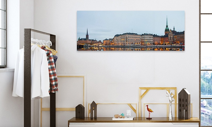 up to 80 off on custom panoramic canvas print groupon goods