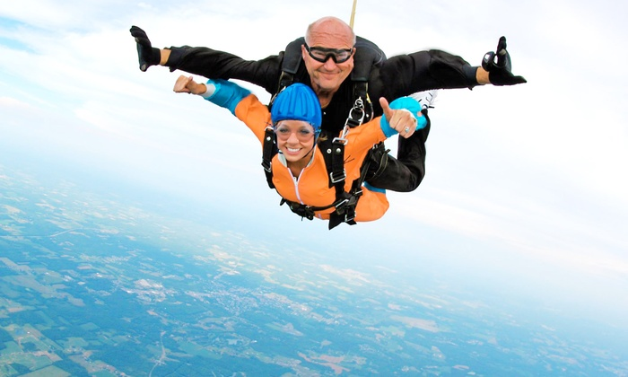 Skydive Cleveland - South Russell: One Tandem Skydiving Jump at Skydive Cleveland (50% Off)