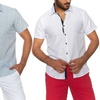 Suslo Couture Men's Button-Down Short-Sleeve Shirts
