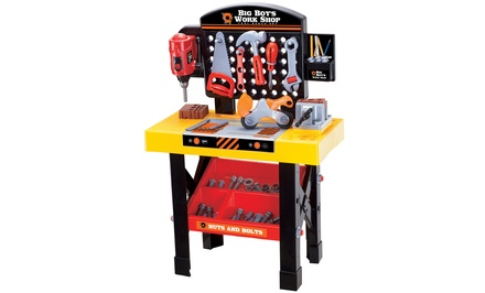 World Tech Toys Big Boy's Work Shop 54-Piece Tool Bench Set