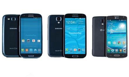 Free 4G LTE Mobile-Phone Service from FreedomPop with a Samsung or LG Smartphone (Certified Pre-Owned)