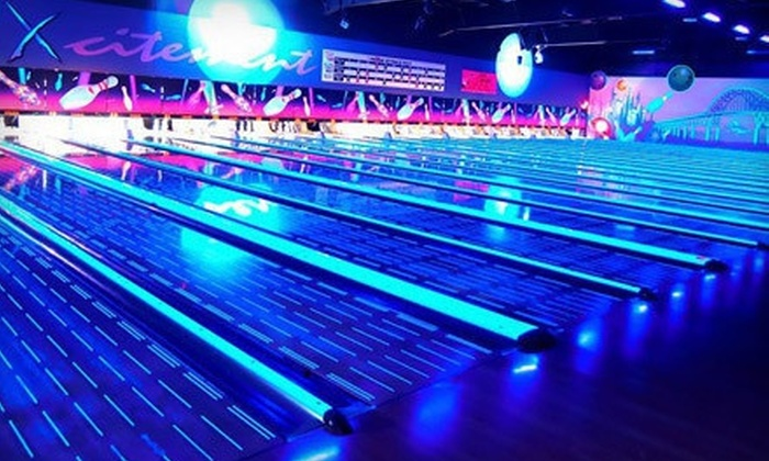 Xcalibur Bowling - Whalley: Two Hours of Bowling for Up to 5 or 10 with Shoe Rental and Food Credit at Xcalibur Bowling Centre (Up to 76% Off)